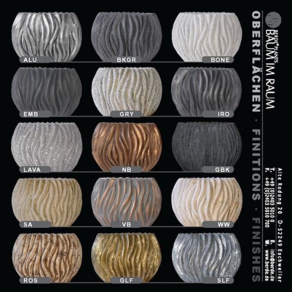 Exclusive Pflanzgefäße pflanzgefäß aus fiberglas im landhausstil blumentopf 51 5x102x52 cm