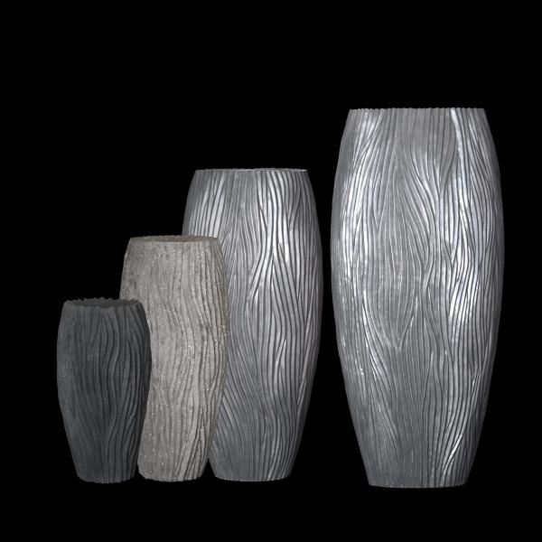exklusive alon vase in xxl mit aluminiumoberfl che. Black Bedroom Furniture Sets. Home Design Ideas
