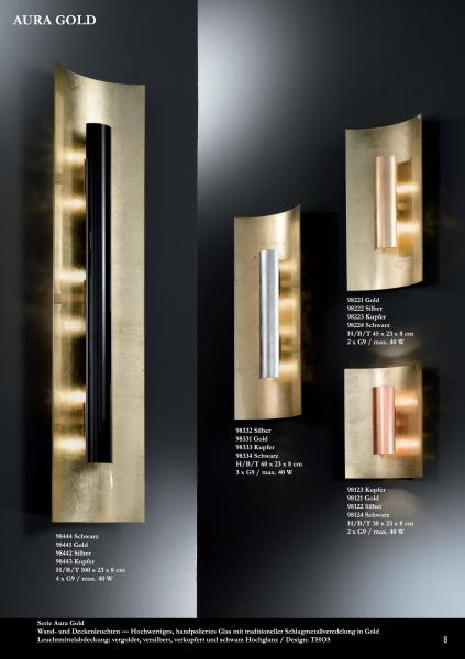 design wandleuchten aura gold