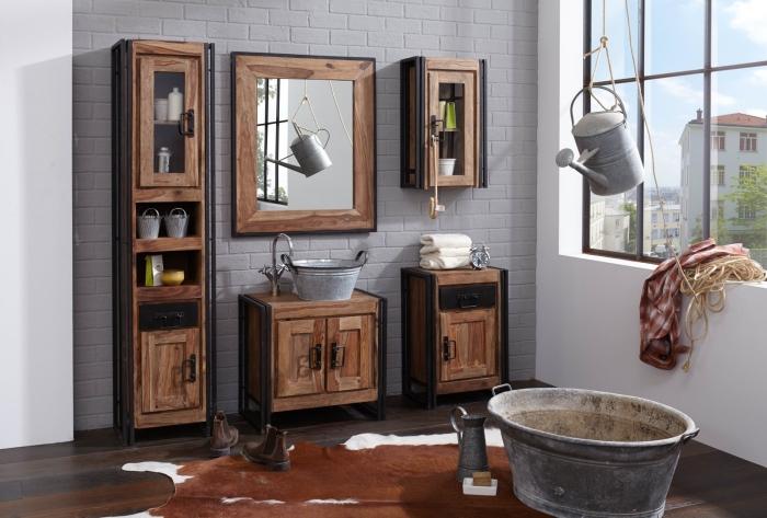 unterschrank caribe vintage industrial. Black Bedroom Furniture Sets. Home Design Ideas