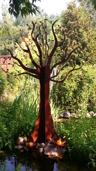 Baum aus stahlblech edelrost 100 300 cm - Exklusive gartendeko ...