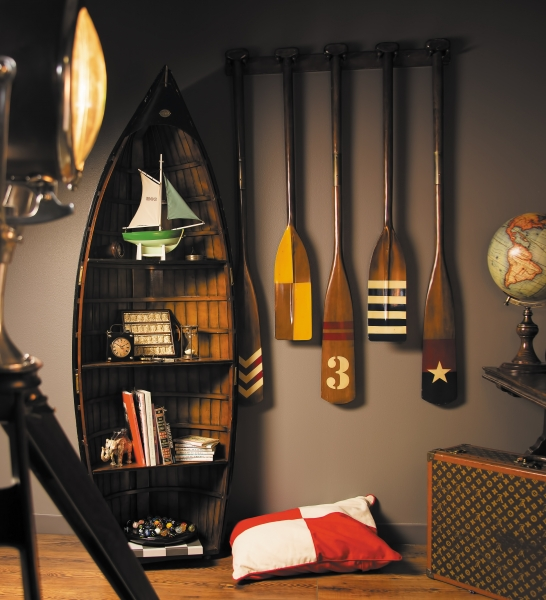 exklusives regal in bootsform bosuns gig vintage style exklusive m bel. Black Bedroom Furniture Sets. Home Design Ideas