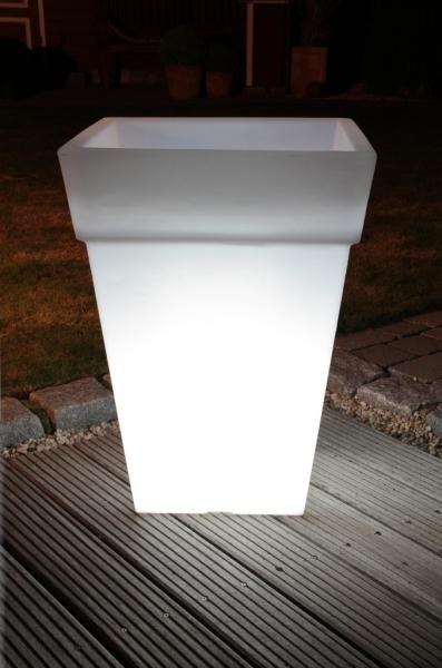 Lightpot eckig mit rand exklusive dekoration licht im garten heim - Exklusive gartendeko ...