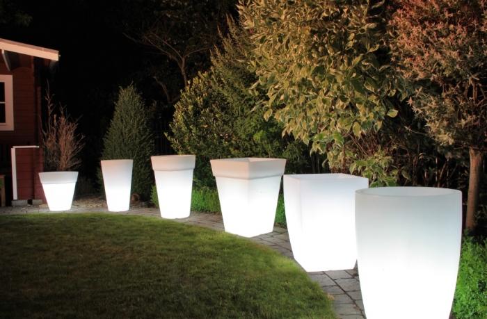 lightpot eckig exklusive dekoration bertopf beleuchtet - Exklusive Dekoration